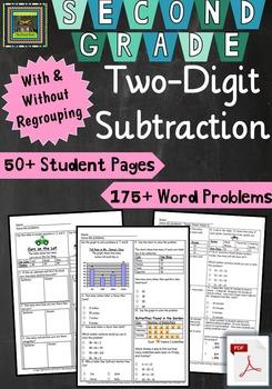 2nd Grade Unit & Test: Two Digit Subtraction Problem Solving ***PDF