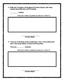 2nd Grade - Unit 2 Everyday Math - Practice Test