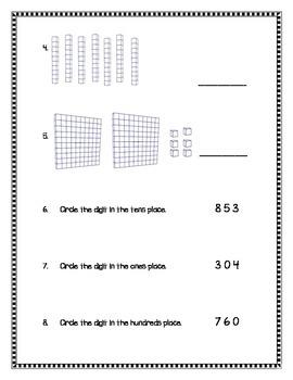 2nd Grade - Unit 3 Everyday Math - Test