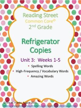 2nd Grade, Unit 3 Reading Street Refrigerator Copy