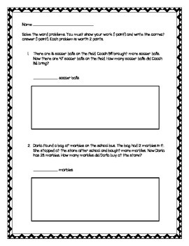 2nd Grade - Unit 4 Everyday Math - Practice Test