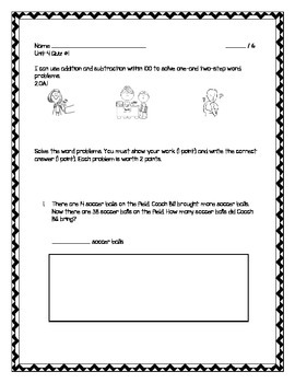 2nd Grade - Unit 4 Everyday Math - Quizzes