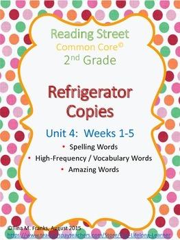 2nd Grade, Unit 4 Reading Street Refrigerator Copy