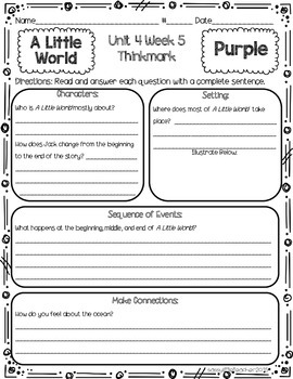 2nd Grade Unit 4 Week 5 Literature Circles