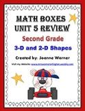 2nd Grade Unit 5 Everyday Math Review ~ 3D & 2D Shapes