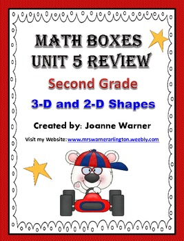 2nd Grade Unit 5 Everyday Math Review ~ 3D & 2D Shapes
