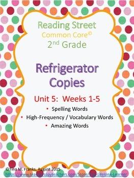 2nd Grade, Unit 5 Reading Street Refrigerator Copy