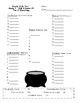 2nd Grade, Unit 6 Journey's Weekly Skills Test Answer Sheets