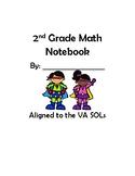 2nd Grade VA Math Interactive Notebook 2016 SOL Standards