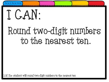 2nd Grade VIRGINIA Math I CAN Statements