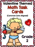 2nd Grade Valentine Math Task Cards {Common Core Aligned- All 4 domains!}