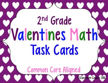 2nd Grade Valentine's Day Math (Common Core Aligned)