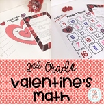 2nd Grade Valentine's Math Pack