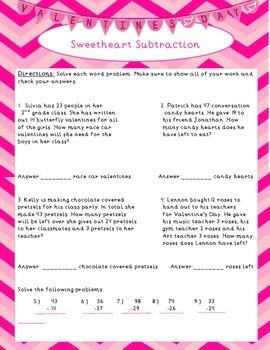 2nd Grade Valentine's Day Math Activities