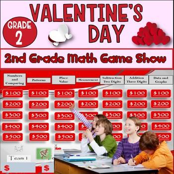 2nd Grade Valentines Math Game Show