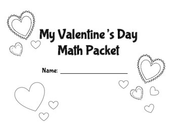 2nd Grade Valentine's  Math Packet