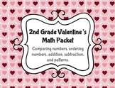 2nd Grade Valentine's  Math Packet