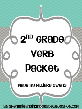 2nd Grade Verb and Irregular Verb Packet
