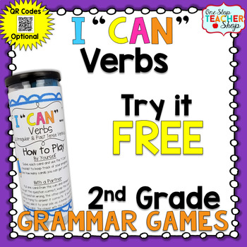 2nd Grade Verbs Game I Can Grammar Games