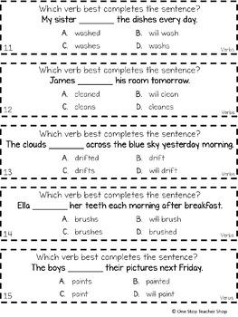 2nd Grade Verbs Game   I CAN Grammar Games