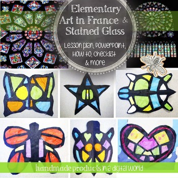 2nd Grade Visual Art Lesson: Art History and Paper Stained Glass Project