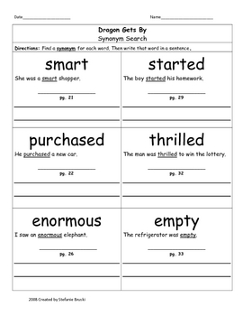 Second Grade Vocabulary Worksheets | Teachers Pay Teachers