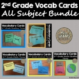2nd Grade Vocabulary Card Bundle - All Subjects