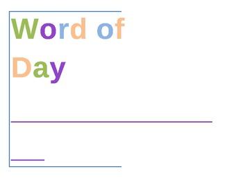 2nd Grade Vocabulary & Grammar Word Wall for Alphabet Banner Pennant