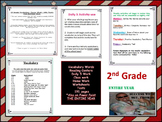 2nd Grade Vocabulary, Power Point, Center Work , HW, Test's, Word Wall ,ALL YEAR