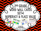 2nd Grade Vocabulary Word Wall Cards Set 1:  Numeracy and Place Value TEKS