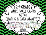 2nd Grade Vocabulary Word Wall Cards Set 4: Graphs & Data Analysis TEKS