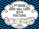 2nd Grade Vocabulary Word Wall Cards Set 5: Fractions TEKS
