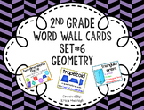 2nd Grade Vocabulary Word Wall Cards Set 6: Geometry TEKS