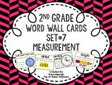 2nd Grade Vocabulary Word Wall Cards Set 7: Measurement TEKS