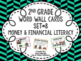 2nd Grade Vocabulary Word Wall Cards Set 8: Money & Financial Literacy TEKS