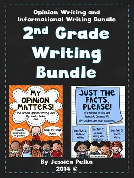 2nd Grade WRITERS WORKSHOP Bundle - 2 Units - Opinion and