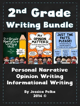 2nd Grade WRITING Bundle - 3 Detailed Units - Narrative, O