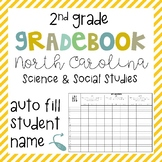 2nd Grade Science and Social Studies Grade Book - North Carolina