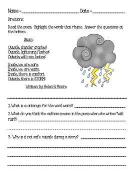 2nd Grade Weather Unit