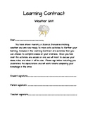 2nd Grade Weather Unit Learning Contract