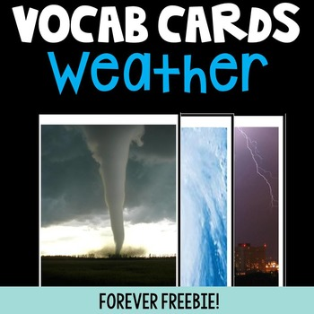 2nd Grade Weather Word Wall Cards