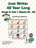 Daily 2nd Grade Writing Lessons, Activities, Grammar - Unit 7 - {CCSS Aligned}