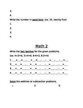 2nd Grade Weekly Homework