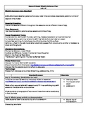 2nd Grade Weekly Science Plan- Essential Standard 2.E.1.3