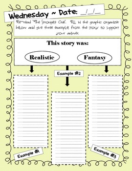2nd Grade Weekly Writing Journal - Reading Street Unit 1 - Week 5