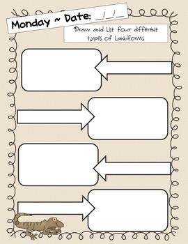"2nd Grade Weekly Writing Journal Unit 1 Week 4 - ""A Walk in the Desert"""