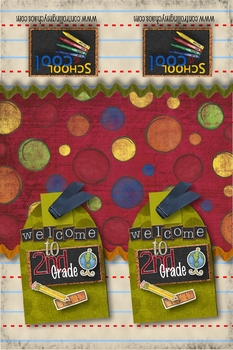 2nd Grade - Welcome Back to School bookmarks