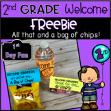 2nd Grade Welcome Freebie- All That and a Bag of Chips!