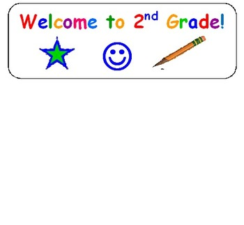 2nd Grade Welcome Stickers