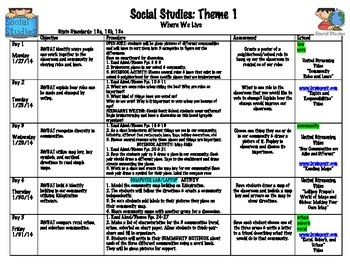 2nd Grade Where We Live (Mcgraw-Hill Social Studies) Theme 1 Unit Bundle